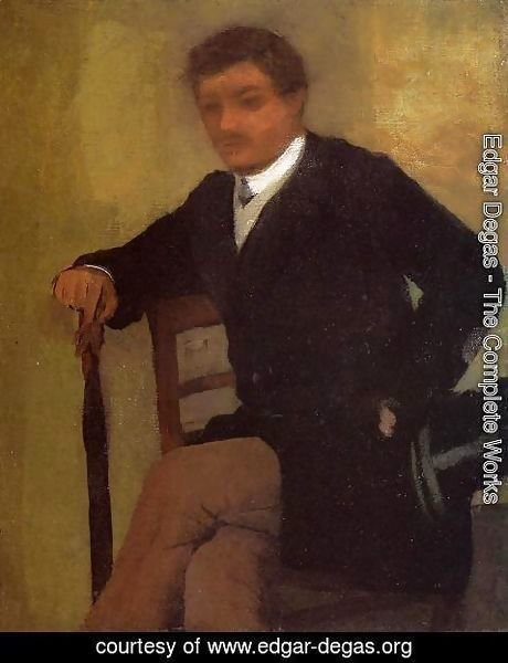 Edgar Degas - Seated Young Man in a Jacket with an Umbrella