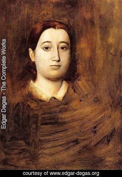 Edgar Degas - Portrait of Madame Edmondo Morbilli, nee Therese De Gas