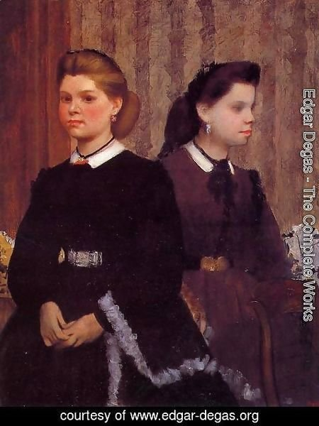 Edgar Degas - Giovanna and Giulia Bellelli