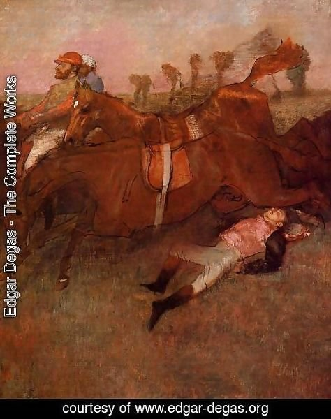 Edgar Degas - Scene from the Steeplechase: the Fallen Jockey