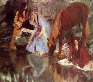 Edgar Degas - Mlle Fiocre in the Ballet 'La Source'