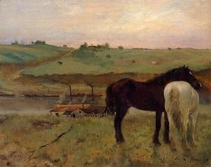 Edgar Degas - Horses in a Meadow