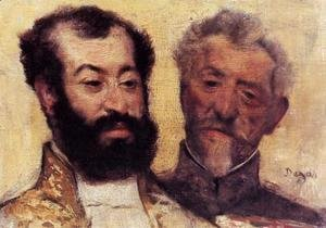 Edgar Degas - General Mellinet and Chief Rabbi Astruc