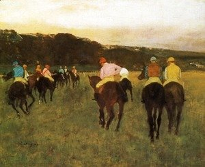 Edgar Degas - Racehorses at Longchamp