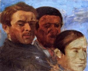 Edgar Degas - Three Heads