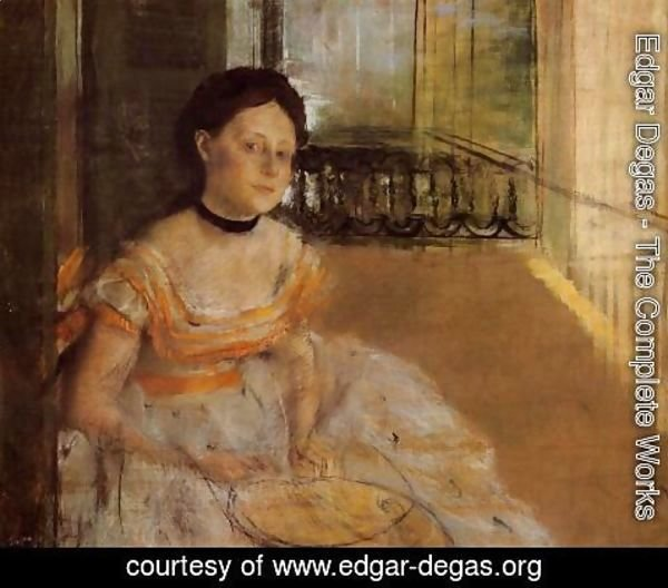 Edgar Degas - Woman Seated on a Balcony