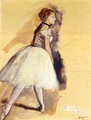 Edgar Degas - Dancer Standing (study)