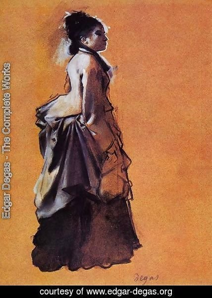 Edgar Degas - Young Woman in Street Dress