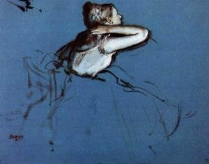 Edgar Degas - Seated Dancer in Profile