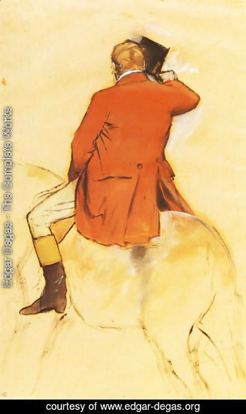 Edgar Degas - Rider in a Red Coat