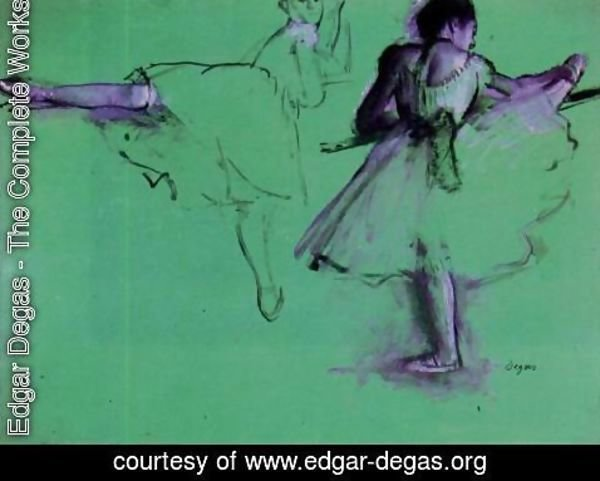 Edgar Degas - Dancers at the Barre