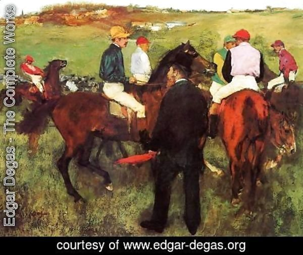 Edgar Degas - Racehorses at Longchamp I