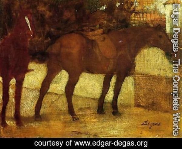 Edgar Degas - Study of Horses
