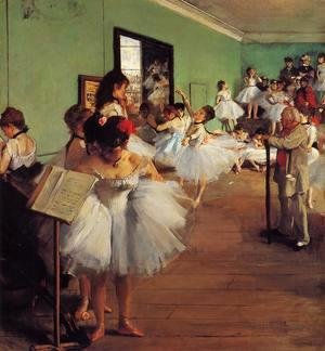 Edgar Degas - The Dance Class II