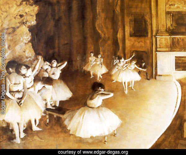 The Ballet Rehearsal on Stage