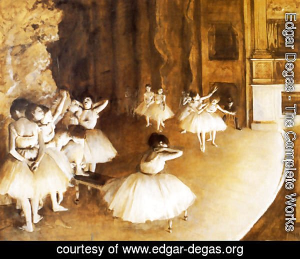 Edgar Degas - The Ballet Rehearsal on Stage