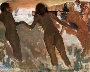 Edgar Degas - Peasant Girls Bathing in the Sea at Dusk