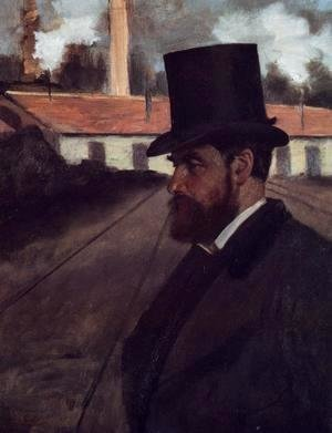 Edgar Degas - Henri Rouart in front of His Factory