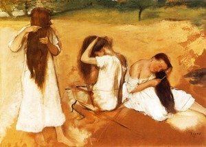 Edgar Degas - Women Combing Their Hair
