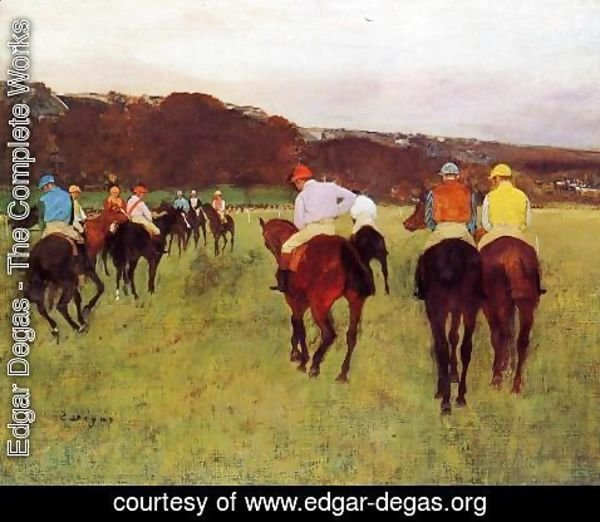 Edgar Degas - Before the Start
