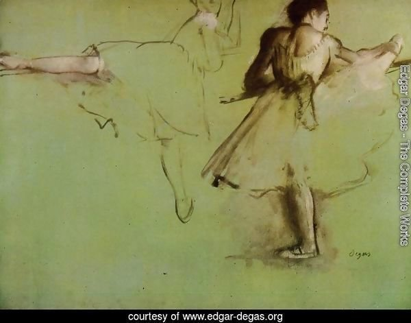 Dancers at the Barre (study)