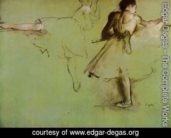 Edgar Degas - Dancers at the Barre (study)