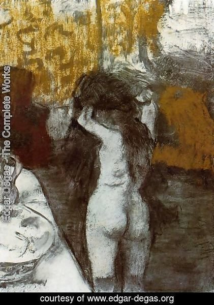 Edgar Degas - After the Bath III