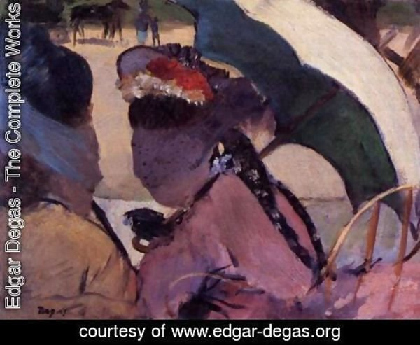 Edgar Degas - At the Races I