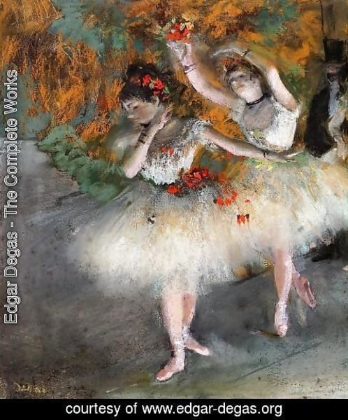 Edgar Degas - Two Dancers Entering the Stage