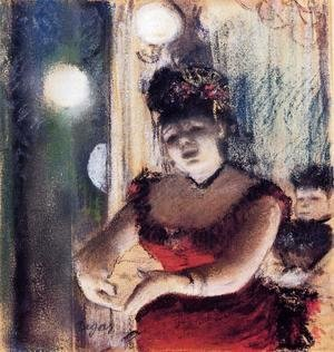 Edgar Degas - Singer in a Cafe-Concert