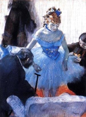 Edgar Degas - Dancer's Dressing Room