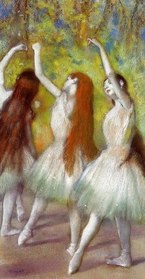 Edgar Degas - Dancers in Green