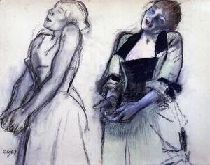 Edgar Degas - Two Studies for 'Music Hall Singers'