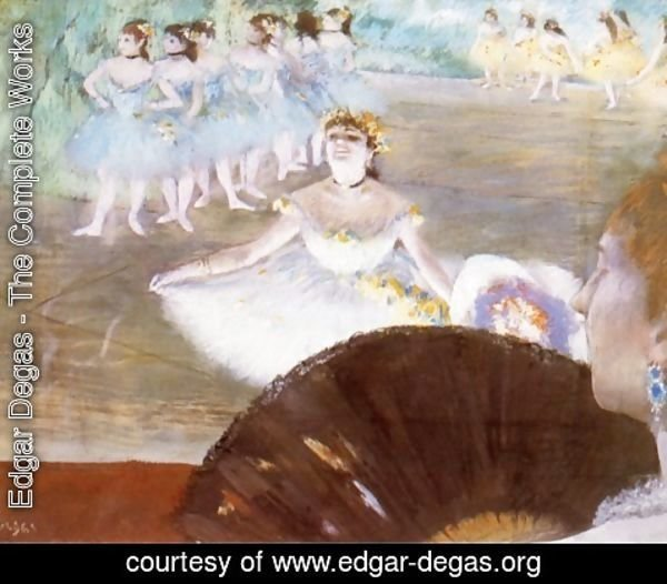 Edgar Degas - Dancer with a Bouquet of Flowers