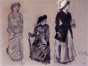 Edgar Degas - Project for Portraits in a Frieze - Three Women