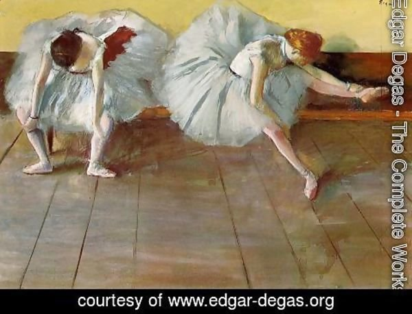 Edgar Degas - Two Ballet Dancers I