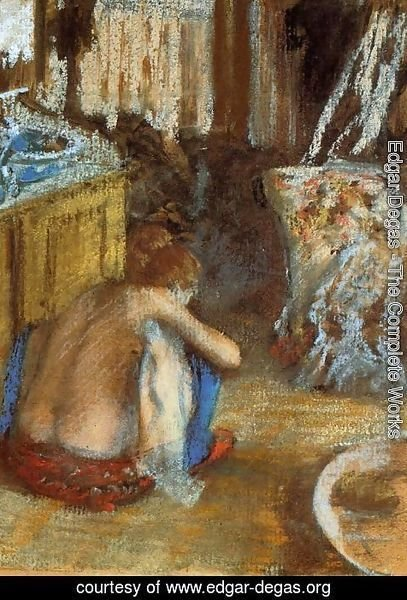 Edgar Degas - Woman Squatting