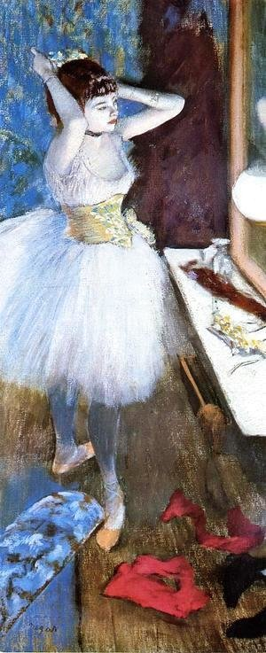 Edgar Degas - Dancer in Her Dressing Room I
