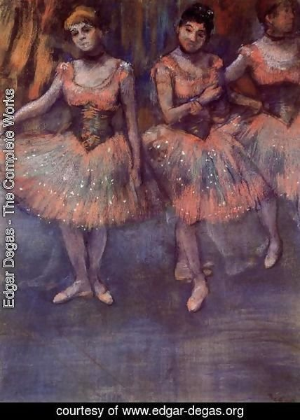 Edgar Degas - Three Dancers before Exercise