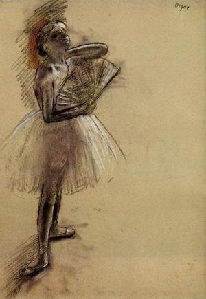 Edgar Degas - Dancer with a Fan I