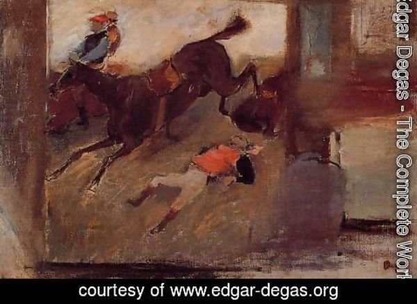 Edgar Degas - Studio Interior with 'The Steeplechase'