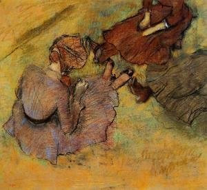 Edgar Degas - Woman Seated on the Grass