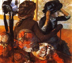 Edgar Degas - At the Milliner's I