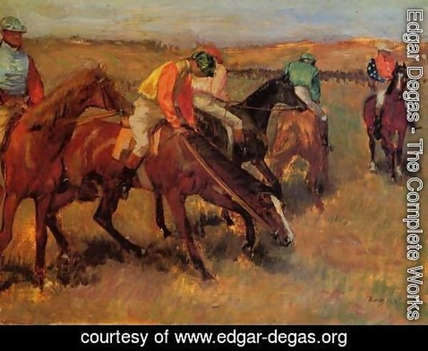 Edgar Degas - Before the Race II