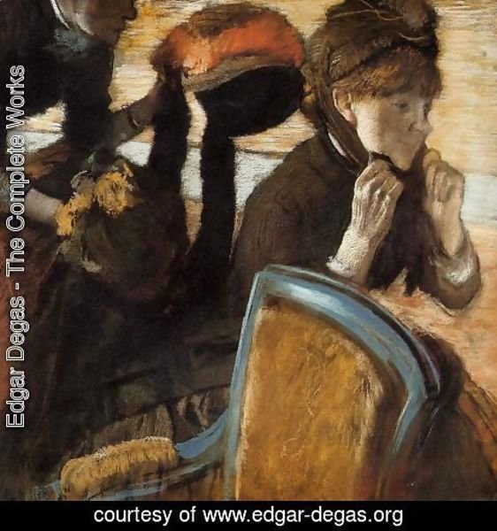 Edgar Degas - At the Milliner's II