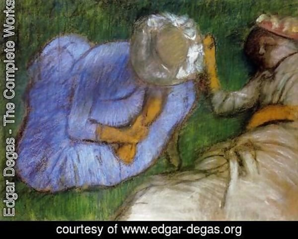 Edgar Degas - Young Women Resting in a Field