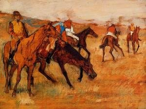 Edgar Degas - Before the Race III