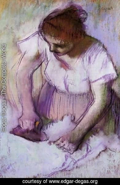 Edgar Degas - Woman Ironing IV