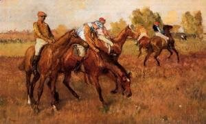 Edgar Degas - Before the Race IV