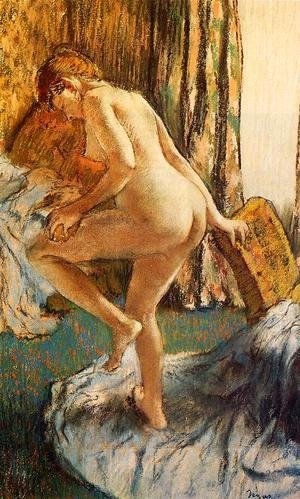 Edgar Degas - After the Bath IV